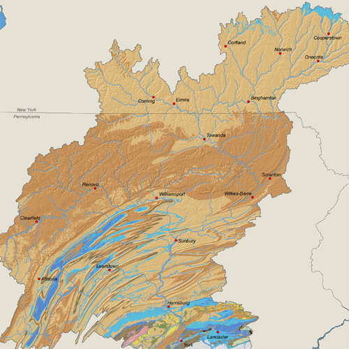 Geology of the Susquehanna River Basin