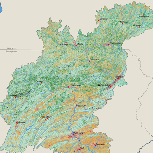 Land Use Land Cover of the Susquehanna River Basin