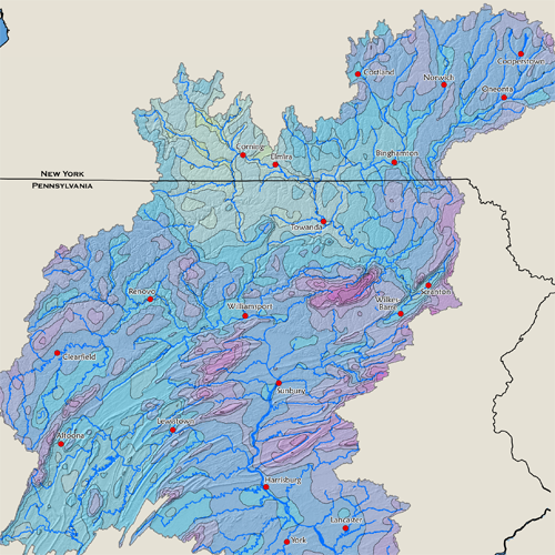 30-Year Average Precipitation for the Susquehanna River Basin