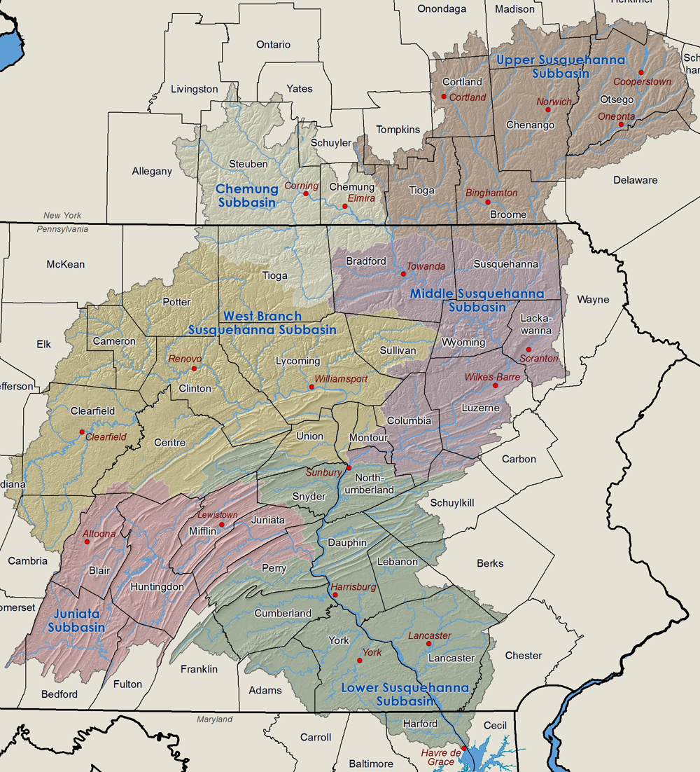 Susquehanna River Basin Map